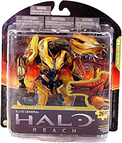 McFarlane Toys Action Figure - Halo Reach Series 4 - ELITE GENERAL (GOLD)