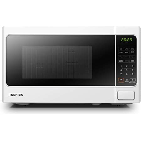Toshiba 800 w 20 L Microwave Oven with 6 Preset Recipes, 11 Power Levels, Procedural Memory, Auto Defrost, and Digital Display - White - MM-EM20P(WH), Amazon Exclusive