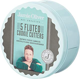 Jamie Oliver Cookie Cutters, Green/Grey, ZS-JB3810, 5 Pieces
