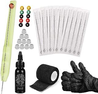 Tixiyu Hand Poke en Stick Tattoo Kit DIY Tattoo Supply Ink Handschoenen en Tattoo Naald Set, Geschikt voor Professionele T...