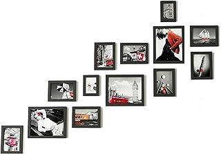 Escalera Foto de la Pared Marco de la Foto Pared Colgando de la Pared combinación Creativa Corredor Fondo de la Pared deco...