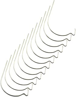 RuiLing Picture Frame Hanger Stainless Steel Wire Twist Hercules Hook for Wooden Wall Artwork No Trace Small Hole Super Mo...