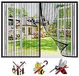 WYYL Mosquitera Ventana Magnetica, Cortina Mosquiteras Totalmente Magnética de Malla Anti Mosquito Insecto, Adsorción Sellado Automático, Fácil de Ensamblar, para Ventanas de Salón Patio