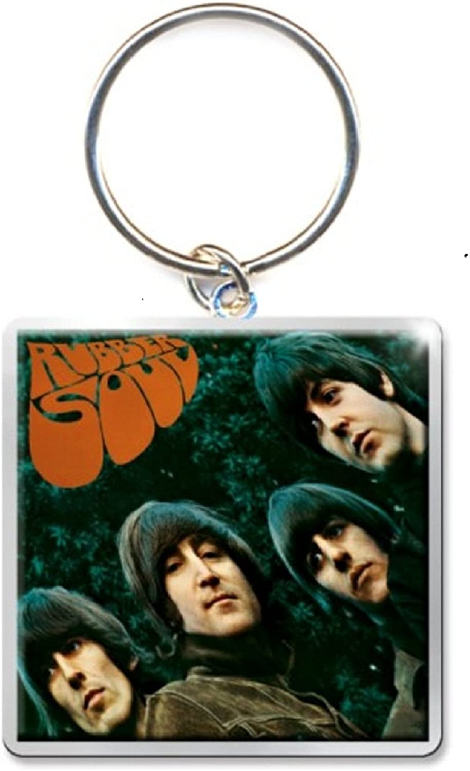 The Beatles Keyring Keychain Rubber Soul Album Official Size One Size