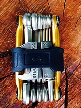 Crankbrothers Multi 17 outils, noir Outil multifonction pour vélo Outils de montage Doré Each