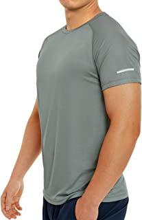 Quick Dry Gym T-Shirts for Men Short Sleeve Athletic Running Shirts Mens Lightweight Outdoor Workout Tshirts