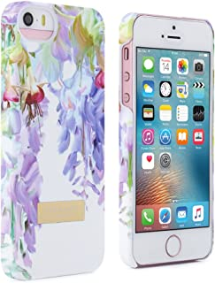 Official TED BAKER SS16 iPhone SE / 5S / 5 Case - Hard Shell Back Case / Cover for Women, Protective Snap on Case for Apple iPhone 5S in Floral Design - Hanging Gardens