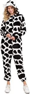 Yelete Plush Animal Adult Jumpsuit Pajama Costume Non-Footed with Pockets