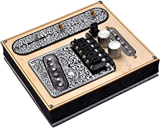 6 Strings Saddle Bridge Plate, 3 Way Switch Control Plate, Neck Pickup Set for Fender Telecaster Electric Guitars Replacement Parts - All Black