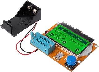HELYZQ Testador de transsistor digital LCD 9V LCR-T4 ESR Meter 12864 Capacitância de luz de fundo