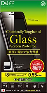 Deff x Asahi Dragontrail High Grade LCD Glass Screen Protector for iPhone 6s Plus / 6 Plus (Full Front / 0.55mm / Black)