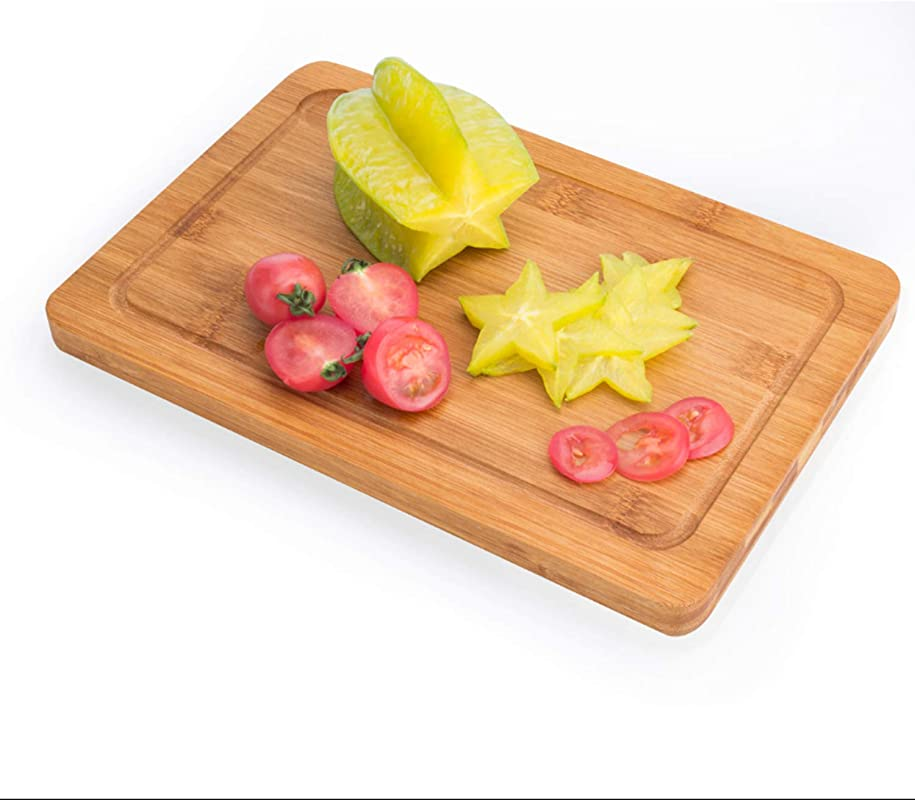 Organic Bamboo Chopping Board With Juice Grooves