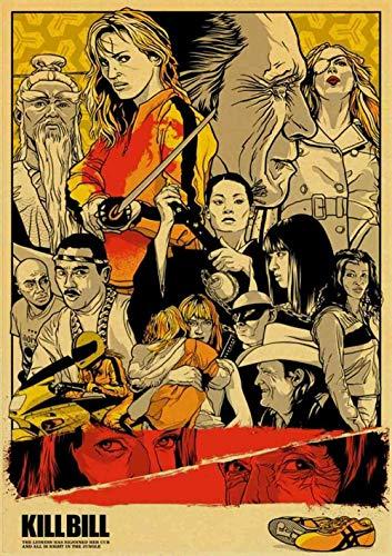Classic Movie Vintage Poster (Pulp Fiction/Kill Bill/Reservoir Hunde/Fight Club/Batman) für Zuhause Wohnzimmer Dekoration Malerei (40 * 60 cm)@42X30cm_E199