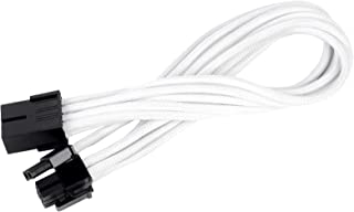 Silverstone SST-PP07-PCIW - 25cm 8pin to PCI-E 6+2pin Sleeved Extention Cable, White