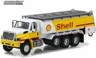 Greenlight 2017 International WorkStar Tanker Truck Shell Oil, Yellow w/ White 45020C/48 - 1/64 Scale Diecast Model Toy Car