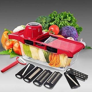 ZJZ Trancheuse à Légumes en Acier Inoxydable Multi-Usage, Sûr et Durable, Sans BPA, Convient pour Pomme de terre, Oignon e...