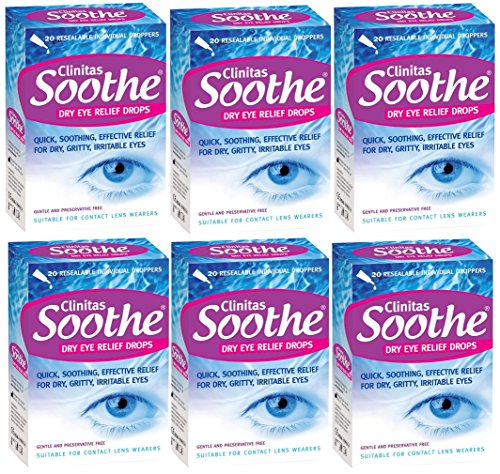 Clinitas Soothe Lubricant Eye Drops x 6, Cl