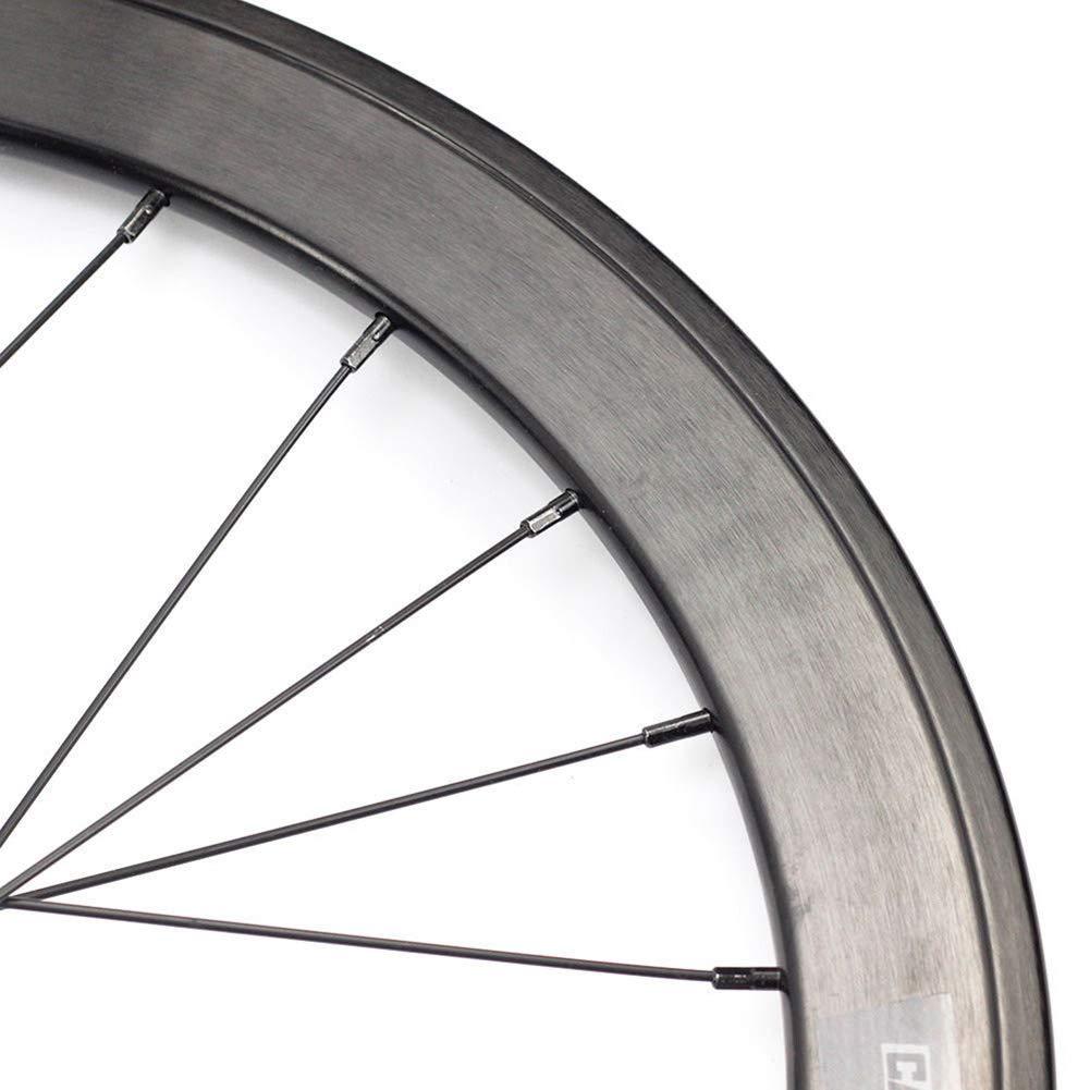 ADD 42mm Aleación de Aluminio Carbono Cubierta Bicicleta Carretera Ruedas Racing Bicicleta Ruedas 24 Agujeros 20 Pulgadas/ 8-11 velocidades: Amazon.es: Hogar