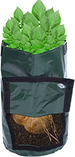 10 Gallon Plant Bags Grow Bags Thickened Aeration Garden Potato Growing Bags with Handles Soil Container Planter for Veget...
