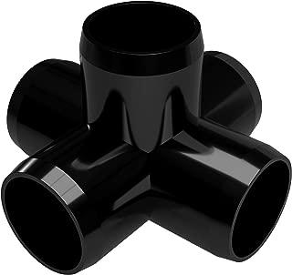 FORMUFIT F1145WC-BK-4 5-Way Cross PVC Fitting, Furniture Grade, 1-1/4