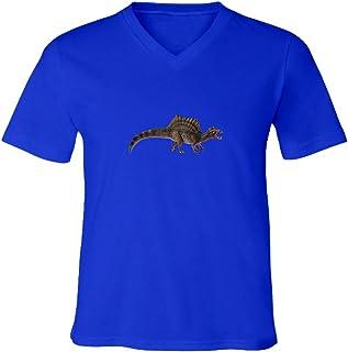 THURDY8 Design Spinosaurus Dinosaur Unisex Vneck Tee T-Shirt Gift Graphics Printed Shirts