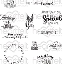 Heartfelt Creations Cling Rubber Stamp Set Just for You Sentiments, HCPC3845