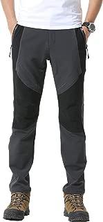 Men Outdoor Soft Shell Waterproof Thin Fleece Pants