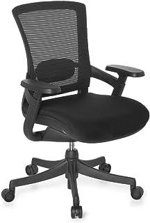 hjh OFFICE 652960 silla de escritorio SKATE BASE tejido de malla / tela negro silla de oficina