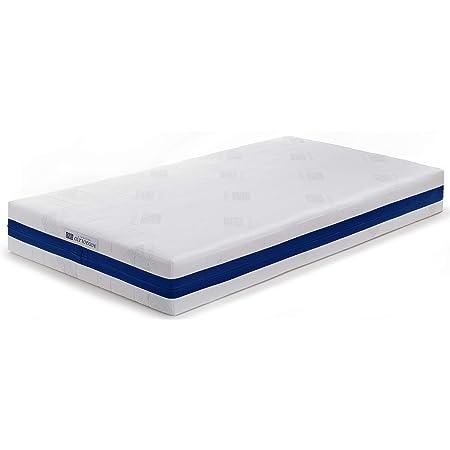 エアウィーヴ マットレス ホワイト シングル ベッドマットレス S03 1-206011-7 お客様組立 三分割 宅配便配送 水洗い可能 通気性抜群 高反発 厚さ約25㎝ 体圧分散 両面仕様