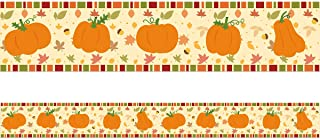 Pumpkin Bulletin Board Border Straight Trim for Classroom Party Decoration 36ft One Roll