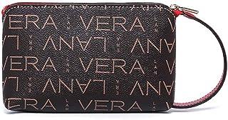 Bolsa de lujo con llavero, mini monedero, pequeña billetera de cuero para mujer, monederos y bolsos para mujer brown marrón oscuro)