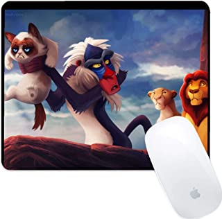 DISNEY COLLECTION Mouse Pad Rectangle Mouse Pad Humor Grumpy Cat The Lion King Slim