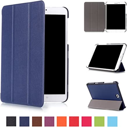 Asng Samsung Galaxy Tab S2 8.0 Case - Slim Lightweight Smart-Shell Stand Cover Case with Auto Wake/Sleep for Samsung Galaxy Tab S2/S2 Nook 8.0 inch Tablet (SM-T710/T715/T713/T719 (Dark Blue)