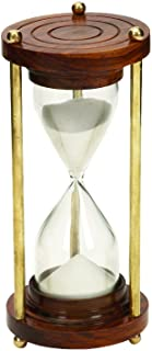 5 Minute Nautical Ship Sand Timer Metal Hour Glass 7""