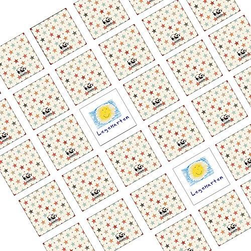 the lazy panda card company 100 Stück Memory Spiel Legekarten Blanko zum Selbstgestalten - 6 x 6 cm - für Kinder , Enkelkinder und Erwachsene , Selber Malen Basteln und Tuschen