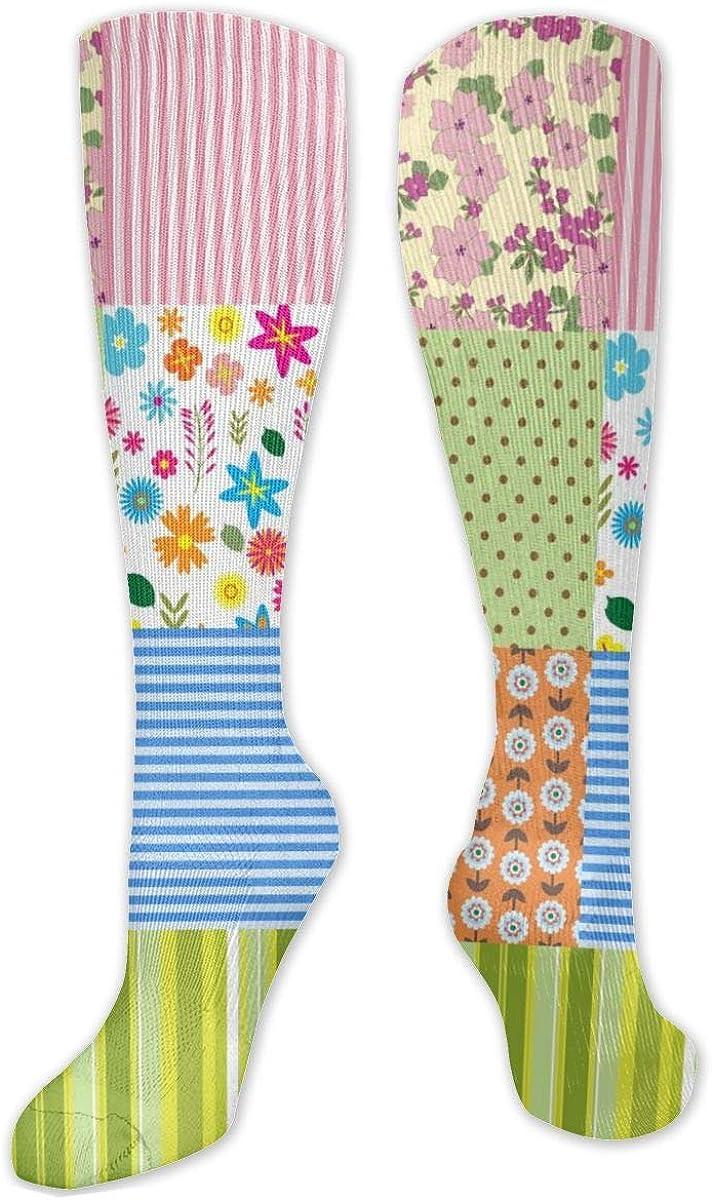Geometric Clipart Knee High Socks Leg Warmer Dresses Long Boot Stockings For Womens Cosplay Daily Wear