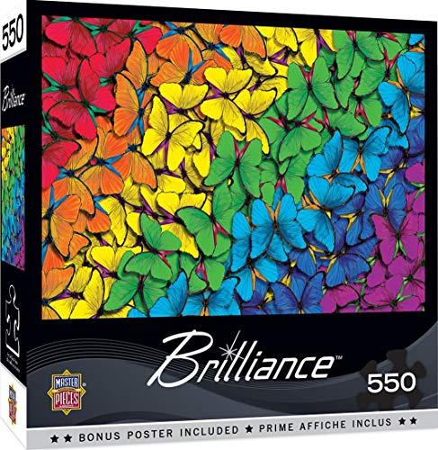 MasterPieces Brilliance - Fluttering Rainbow 550-Piece Jigsaw Puzzle