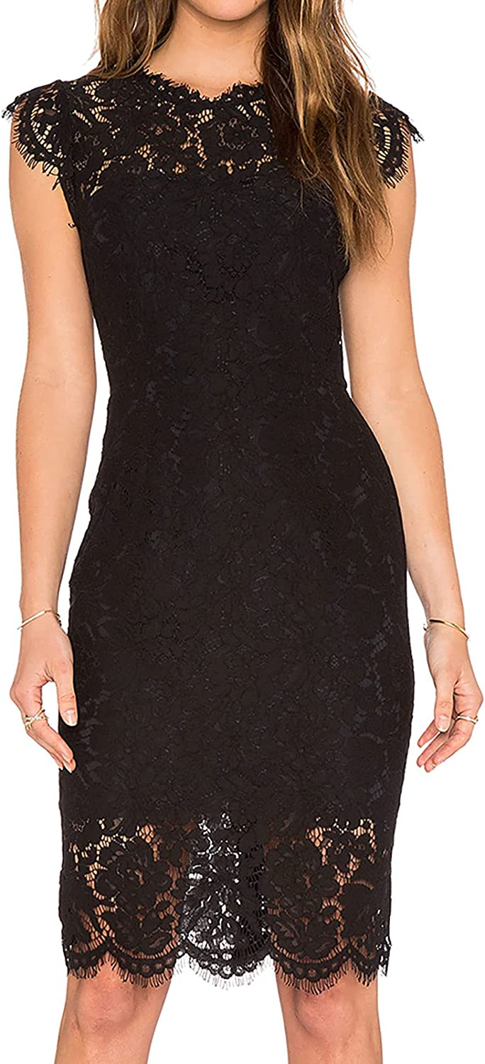 MEROKEETY Women's Sleeveless Lace Cocktail Floral Elegant Dress store Max 83% OFF