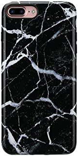 GOLINK iPhone 8 Plus Marble Case/iPhone 7 Plus Case for Girls, Glossy Marble Series Slim-Fit Ultra-Thin Anti-Scratch Shock Proof Dust Proof TPU Gel Case for iPhone 7/8 Plus- Black Marble