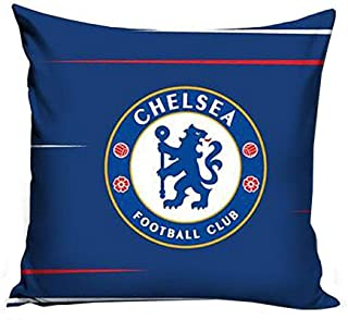 One Size Blue//White Chelsea FC Official Football Patch Single Duvet And Pillow Case Set