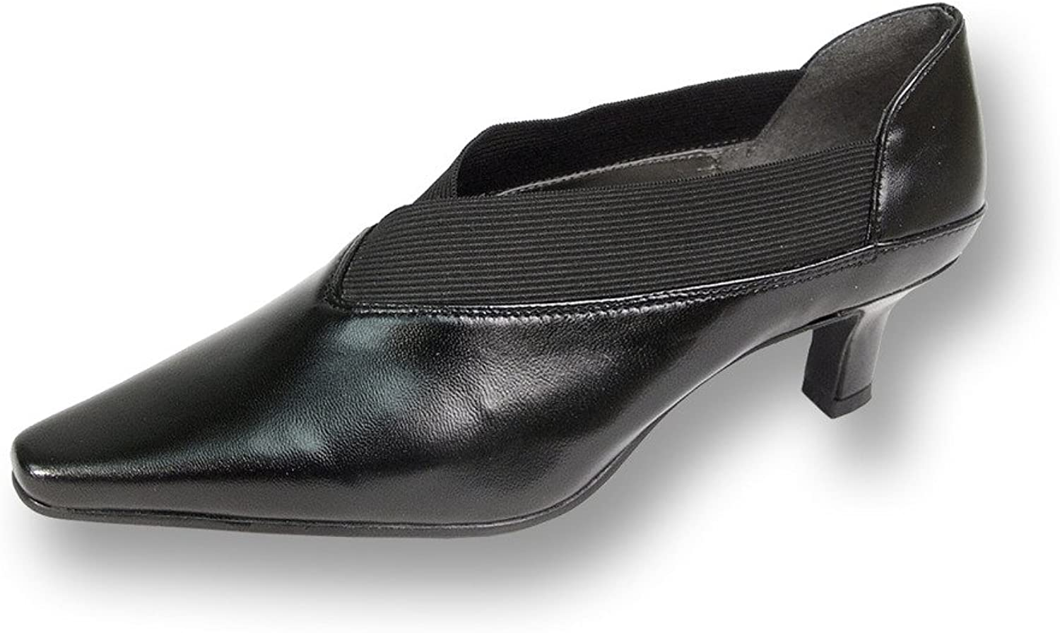 Peerage FIC Rita Women Wide Width Leather Dress Pump (Size & Measurement Guides Available)