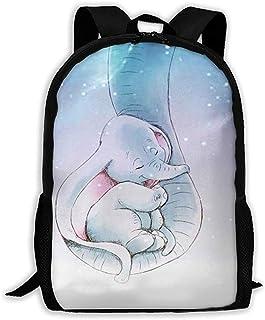 Mochila Dumbo Informal Mochila Escolar con Cremallera Linda Mochila de Viaje Mochila-471-UTA