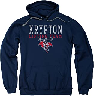 Trevco Dco Krpton Lifting Adult Pull Over Hoodie Navy Navy