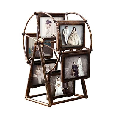 MLADEN Retro Vintage Family Photo Frames DIY Ferris Wheel Rotatable Windmill Plastic Picture Frame Home Decor Gift Nostalgic Style