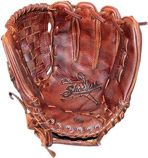 Shoeless Joe Gloves Fast Pitch Basket Weave Web Brown Glove