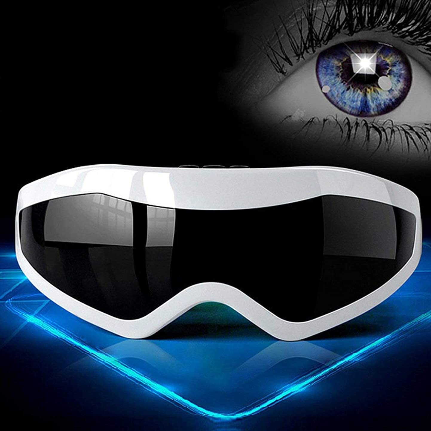 導入する不正直厚いComfortable Electric Eye Massager Men Women Eye Brain Relax Magnetic Eye Health Care Massager Instrument Best Gift