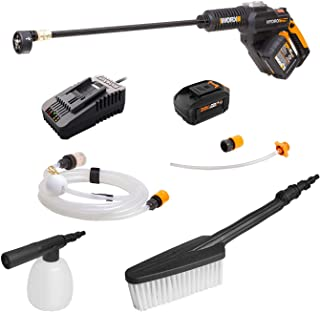 WORX WG630.2 20V 4.0Ah High Flow Hydroshot with Soap Bottle and Brush,Battery and Charger Included