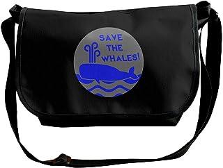 BUGKHD Save The Whales Bolso bandolera de hombro para hombres y mujeres, bolsa de mensajero de moda para ir de compras, es...