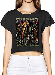 Type O Negative Womens Crop Top Casual Summer Cotton T Shirt