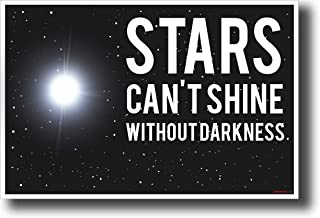 Stars Can't Shine Without Darkness - NEW Classroom Motivational Poster